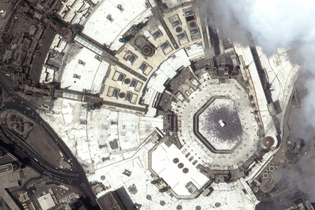 PICTURE: Satellite view of Makkah Grand Mosque during Eid Al-Adha