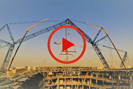VIDEO: Khansaheb on truss-lifting for Viva City's Sport Society