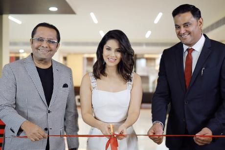 Sunny Leone opens Danube Properties' office in Kochi, Kerala