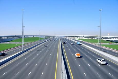 Construction progress on $36m E88, Etihad Road in Sharjah, Ajman