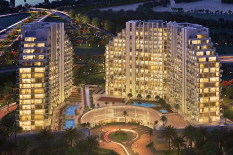Azizi Developments' Creek Views in Dubai Healthcare City 24% complete