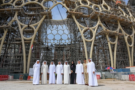 Expo 2020 Dubai lifts final piece of Al Wasl Plaza's dome into place