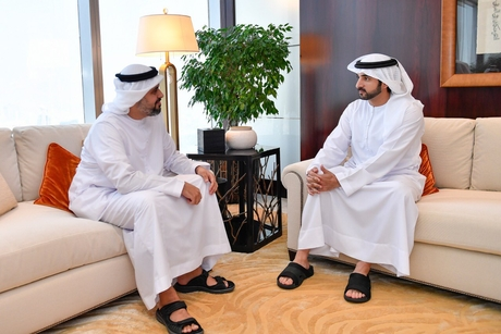 Sheikh Hamdan, Sheikh Theyab discuss Etihad Rail in Dubai