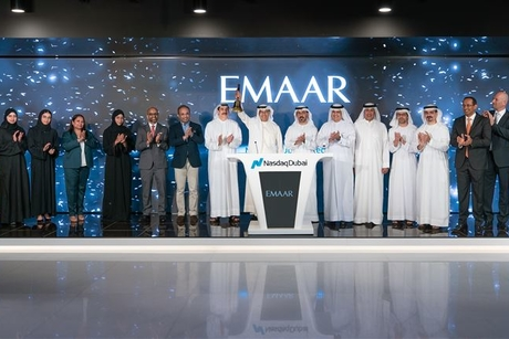 Mohamed Alabbar rings Nasdaq Dubai bell for Emaar's sukuk