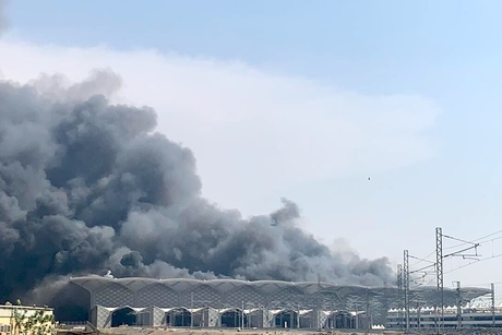 VIDEO: Fire at Haramain Rail station in Jeddah 75% controlled