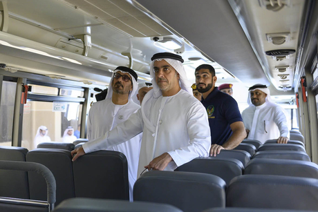 VIDEO: Sheikh Saif briefed on smart school buses in Abu Dhabi
