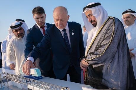 Sharjah Ruler reviews SkyWay transport tech at SRTI Park