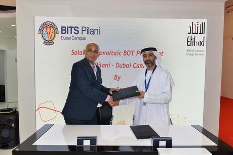 Etihad Esco to install rooftop solar PV System at BITS Pilani Dubai