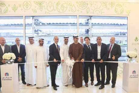 UAE minister opens Carrefour's hydroponic farms in Abu Dhabi