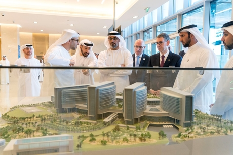 VIDEO: Sheikh Khalid tours UAE's Sheikh Shakhbout Medical City