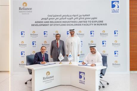 ADNOC, Reliance ink deal to explore development of Ruwais EDC facility
