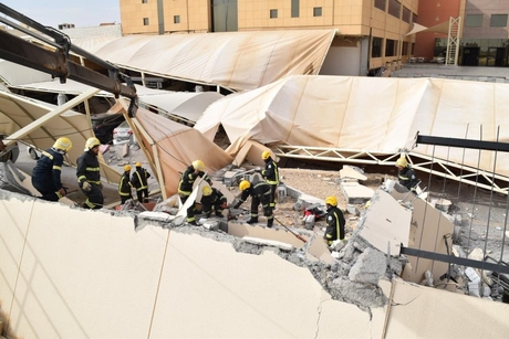 Building collapse at Almaarefa University in Saudi kills 2, injures 13