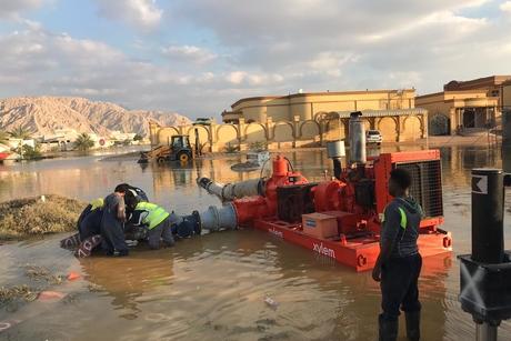 Xylem supports Dubai Municipality to pump out rainwater after flooding