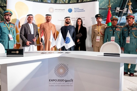 PICTURES: Dubai Ruler, Abu Dhabi Crown Prince at Expo 2020 deals