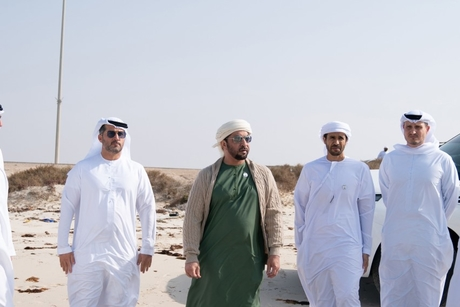 VIDEO: Sheikh Hamdan bin Zayed visits Jabal Al Dhanna project site