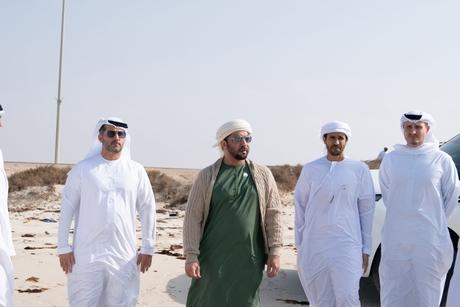 VIDEO: Sheikh Hamdan bin Zayed visits Jabal Al Dhanna project site