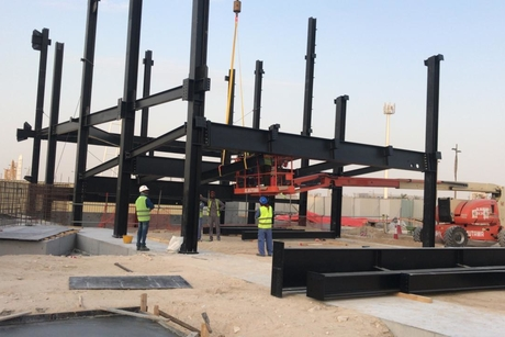 Steel works begin at Expo 2020 Dubai's Switzerland Pavilion