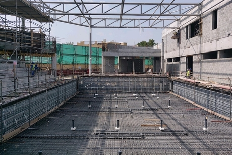 GAJ's work on Dubai College's monoblock swimming pool