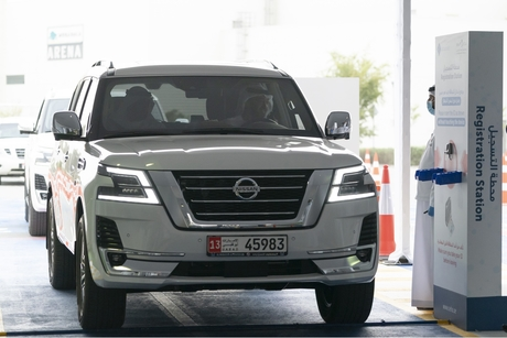 Sheikh Mohammed bin Zayed opens drive-through COVID-19 test centre