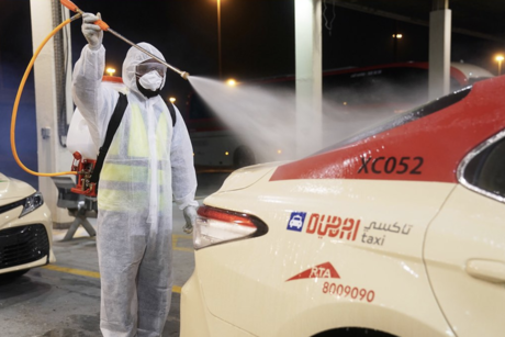 VIDEOS: RTA disinfects metro, trams, buses, taxis to fight COVID-19