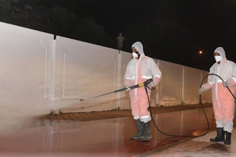 VIDEO: Bee'ah, Sharjah Municipality disinfect the city