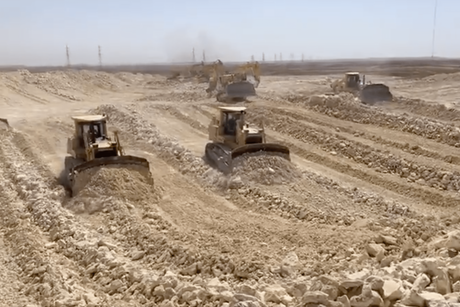 VIDEO: Qiddiya takes precautions; construction continues on site