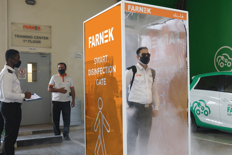 Farnek becomes first FM firm to install sanitisation gateway