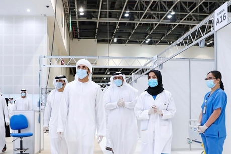 Sheikh Hamdan opens COVID-19 field hospital at Dubai World Trade Centre