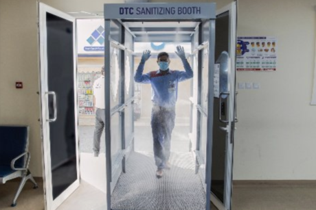 VIDEO: Dubai Taxi launches self-sanitisation booth for taxi drivers