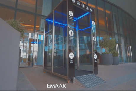 Emaar installs disinfection tunnels at entrance to its main offices