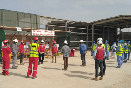 PICTURES: Douglas OHI carries out chemical spill demo at Duqm