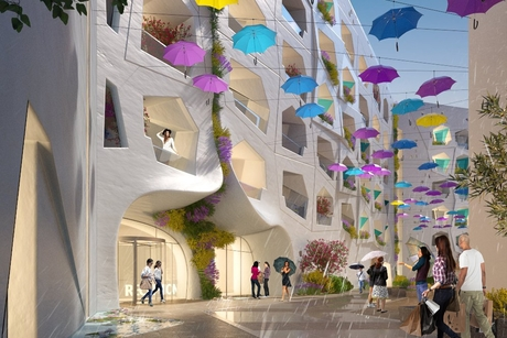 "Kleindienst Group constructs year-round ""Raining"" Street in Dubai"