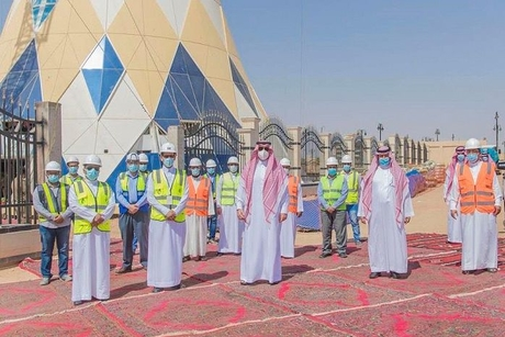 PICTURES: Saudi's Prince Faisal inspects Ar'ar water tower project
