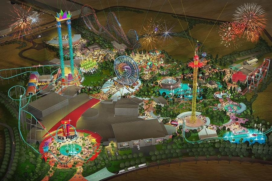 Six Flags' $707m Dubai theme park could feature the world's biggest roller coaster.