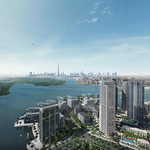 Rendering of Emaar's 17 Icon Bay residential tower.