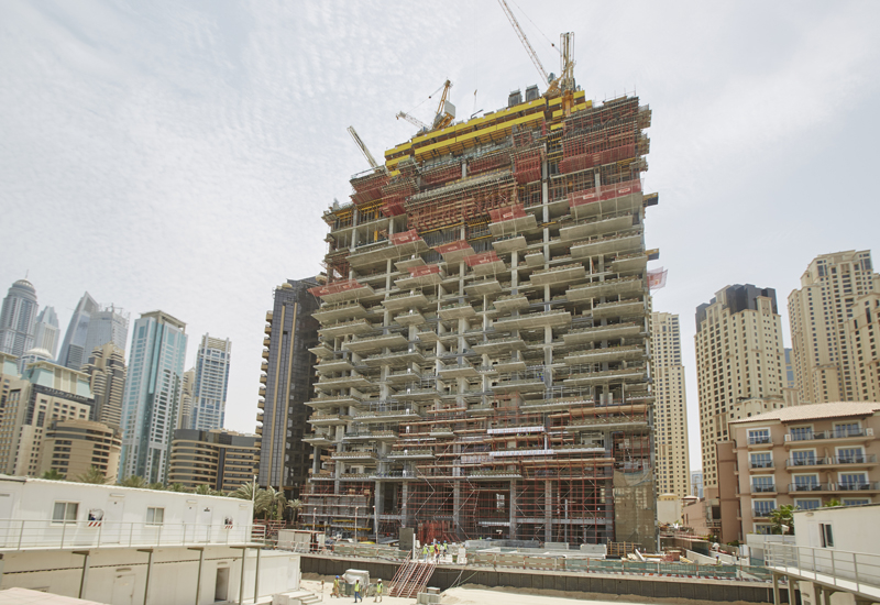 Construction on 1/JBR is around 40% complete.