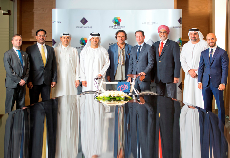 HE Helal Saeed Almarri, director general of Dubai World Trade Centre Authority along with other dignitaries in attendance at the signing ceremony in Dubai.