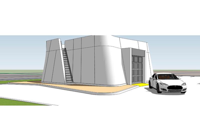 DEWA commissioned a 3D printed drone research lab in Dubai. [Image: www.cybe.eu]