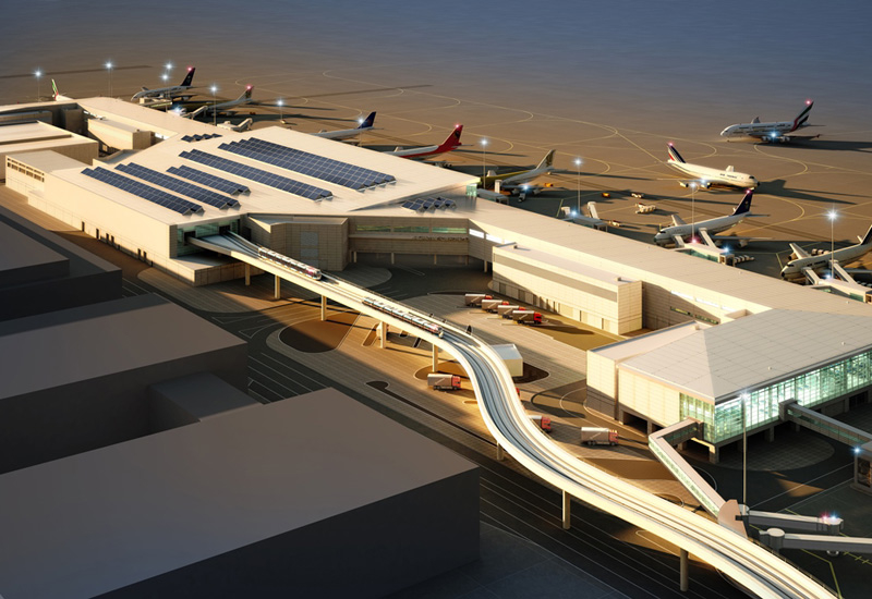 Concourse D has been constructed by ALEC.