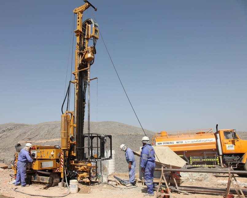 NEWS, Projects, ACES, Arab centre for engineering, Borehole drilling, Boreholes, Drilling, Fujairah, Investigations, Site investigations