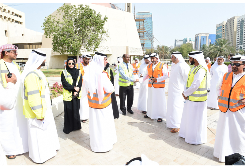 Abu Dhabi City Municipality officials along with members of the Abu Dhabi Police and its carious departments.