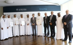 Abu Dhabi Ports has been awarded the ISO 28000:2007 certificate by LRQA [image: Abu Dhabi Ports].