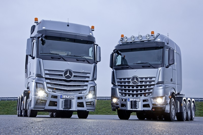 The new Actros and Arocs trucks.
