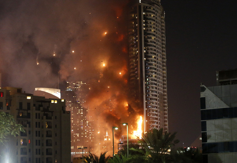 The Address Downtown Dubai caught fire on 31 December, 2015, and is being rebuilt for a 2017 launch.