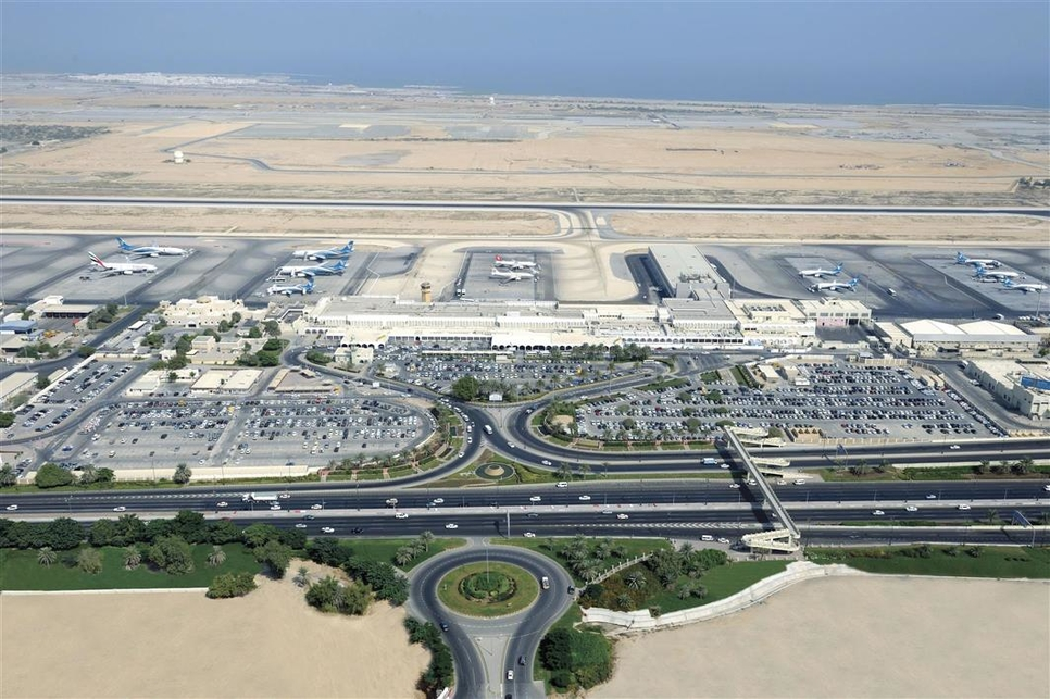 An aerial view of Muscat International Airport in Oman. (Image courtesy of OAMC).