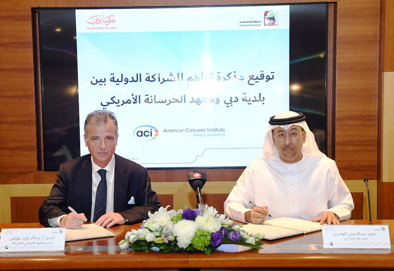 Dubai and the US will share research and insight on concrete.