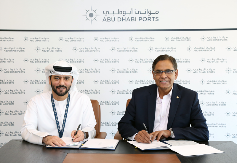 The new agreement was signed by Captain Mohamed Juma Al Shamisi, chief executive officer of Abu Dhabi Ports and Iqbal Hamzah, chief executive officer of Agthia Group.