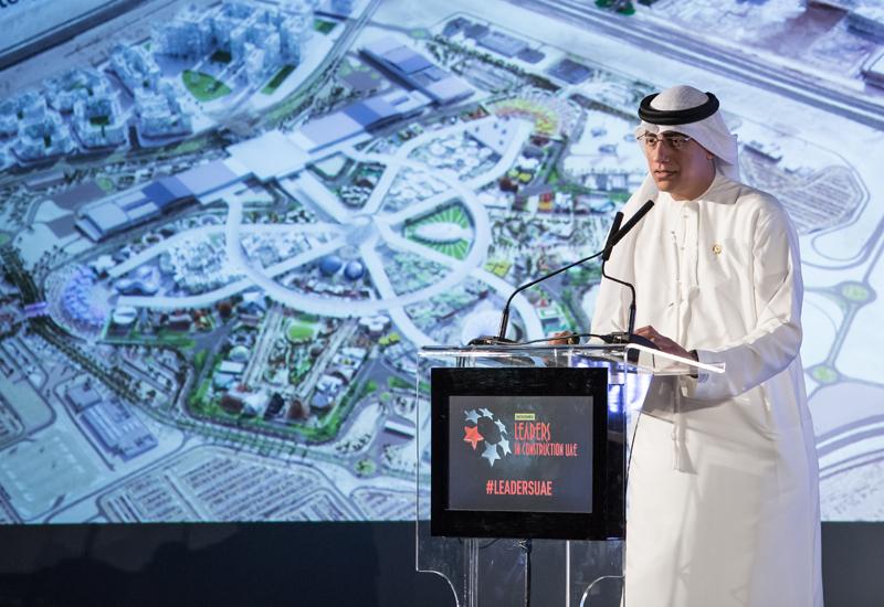 Expo 2020 Dubai's Ahmed Al Khatib (above) delivered the keynote address at <i>Construction Week</i>'s Leaders UAE 2017 summit.