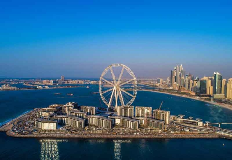 Ain Dubai is being developed within the man-made Bluewaters Island project [image: Twitter/Dubai Media Office].