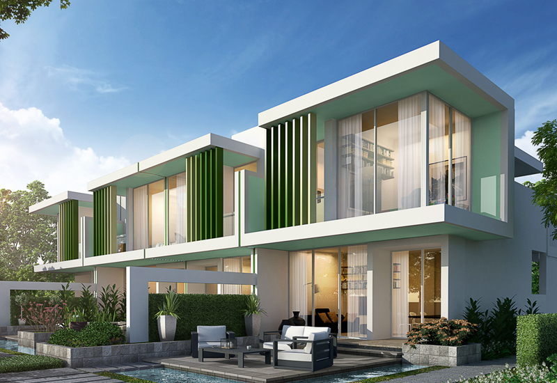 Located within the Akoya Oxygen golf community, Damac's Akoya Fresh villas have been designed for first-time buyers, newlyweds, and young families.